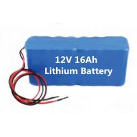 Wholesale Mine lighting 12v16ah lithium battery pack, boutique mining machinery lithium-ion battery from china suppliers