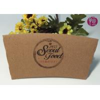 Wholesale 16oz Kraft Paper Coffee Cup Sleeve With Double Wall / Heat Insulated from china suppliers