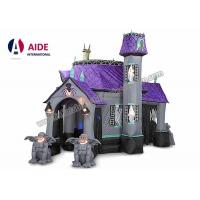 Buy cheap 10ft customized new style halloween inflatable haunted house with led lights for decoration from Wholesalers
