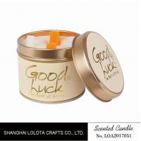 Wholesale Really Good Smelling Scented Tin Candles With Round And Top Printing Sticker from china suppliers