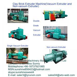 China JK40 auto clay brick making machine(brick vacuum extruder) on sale