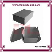 Wholesale 100% black folding paper box with magnetic closure ME-FD003B from china suppliers