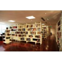 Wholesale Cultural center Furniture White Display Bookcase and stand with In wall Storage cabinet from china suppliers