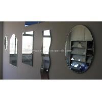 China Double Coated Paint Aluminium Glass Mirror , Decorative Bathroom Mirror With Shelf on sale