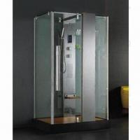 Wholesale Steam Shower Room with Matte Silver Aluminum Profile from china suppliers