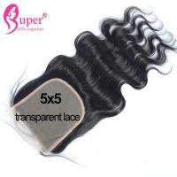 Wholesale 22 Inch Virgin Human Hair Extension Transparent Swiss Lace Top Closure Bleach Knots from china suppliers