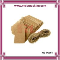 Wholesale Brown kraft paper hang tag with rope string, garment paper tags ME-TG005 from china suppliers