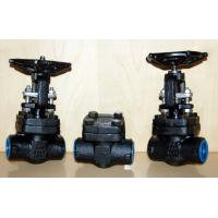 Forged Steel Globe Valve Carbon Steel / Stainless Steel , Flexible Wedge Bolted Bonnet for sale