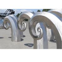 Wholesale Public Art Large Metal Wave Sculpture , Outdoor Abstract Steel Sculpture from china suppliers