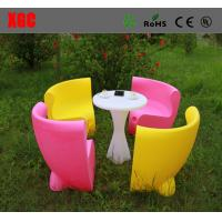Wholesale Fireproof Plastic Outdoor Furniture Single Light Weight Chairs With Rechargeable Batteries from china suppliers