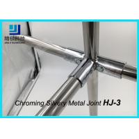 Wholesale 90 Degree 3 Way Flexible Chrome Pipe Connectors / Joints HJ-3 Silvery Color from china suppliers