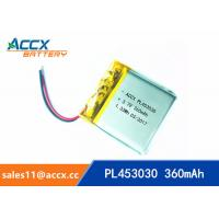 Wholesale High Capacity Cell 453030 503030 603030 Lithium Polymer Battery with 3.7 V 360mAh pl453030 from china suppliers