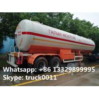 hot sale FUWA 2 axles 40500L propane gas trailer, best price FUWA/BPW double axles 17tons road transproted lpg gas tank for sale
