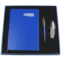 Wholesale Newly promotional leather loose leaf Diarysk with pen business set from china suppliers