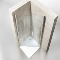 Wholesale Low Price Bathroom Simple Sliding Curved Shower Enclosure for Sale from china suppliers