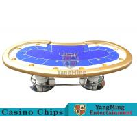 Wholesale 10 Players Casino Poker Table/ Custom Poker Tables With Disc Shape Legs from china suppliers