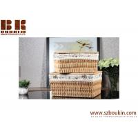 Wholesale Popular eco-friendly square PVC woven storage basket for flower gift, baby gift from china suppliers