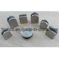 Quality Stainless Steel D shape Round Glass Clamps 40x50mm Fit 6-8mm Glass for Glass Railing Handrail and balustrade for sale