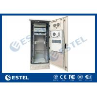 China Single Wall Stainless Steel 38U Outdoor Telecom Enclosure 750x700x2000 With DC Air Conditioner for sale