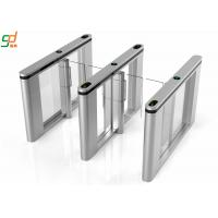 Wholesale Entrance Manager Supermarket Swing Gate,Card Sensing Glass Wings Slim Turnstile from china suppliers