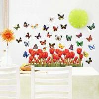 Wholesale Flying Butterfly Wall Decal with UV Offset Printing and CMYK Colors from china suppliers