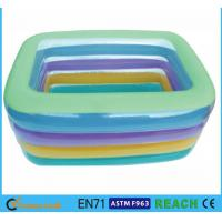 Wholesale Eco Friendly Square Swimming Pools , Crystal Blue Inflatable Baby Pool from china suppliers