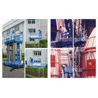 Wholesale 10 Meter Hydraulic Aluminum Work Platform Four Mast Blue For Warehouses from china suppliers