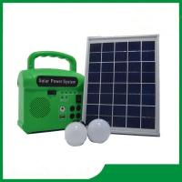 China 10w portable solar energy kits for home with phone charger, FM radio, MP3 for hot selling on sale