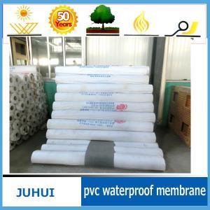 China flat roofing waterproof membrane/fabric reinforced PVC waterproof membrane on sale