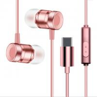 China USB Type-C Earbuds Magnetic Wired In ear Headphone Super Bass Music Earphone Earbuds on sale