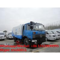 Wholesale 2018s cheapest price dongfeng RHD 170hp diesel 8-10tons road sweeping vehicle for sale, street sweeper cleaning  truck from china suppliers