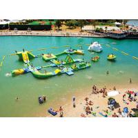 Wholesale Customized Giant Green Isle Inflatable Water Park , Inflatable Fun Park For Island from china suppliers