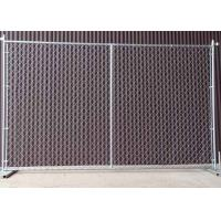 Wholesale Square / Round Temporary Chain Link Fence For Construction Sites 6' H X 10' L from china suppliers
