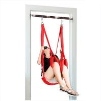 Wholesale Nylon Bondage Sex Toys Door Swing Restraints For Adult Game Black Red Color from china suppliers