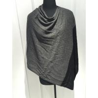Wholesale Black Grey Sleeveless Poncho Cardigan Sweater For Women Adults Autumn / Winter from china suppliers