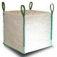 China White One Ton PP Woven Gravel Bulk Bag For Builder Construction Use on sale