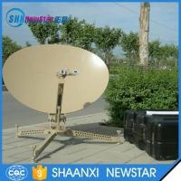 Buy cheap 75cm carbon fiber ka/ku band manual portable flyaway small satellite dish from wholesalers