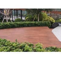 China Fire Resistant Outdoor Wood Tile , Wood Deck Tiles Non Deformation For Boat on sale