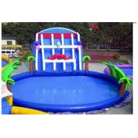 Wholesale Outdoor Inflatable Family Swimming Pool For Kids , PVC Tarpaulin from china suppliers
