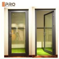High Strength Durable Aluminium Hinged Doors With PVDF Surface Treatment for sale