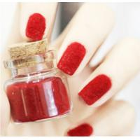 Buy cheap Red Flocking Nail Art Fake Nails Full Cover , pointed fake nails from wholesalers