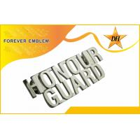 Buy cheap Zinc Alloy Custom Metal Name Badges Cutouts , Front Side Polishing from wholesalers