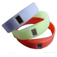 Buy cheap Embossed rubber silicone ion sport watch, silicone armbands, wide silicone from wholesalers