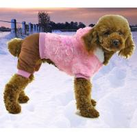Wholesale Plush soft warm dog clothes for winter puppy coat from china suppliers