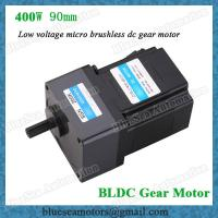 Wholesale 36V, 48V, 72V, 400W low voltage BLDC gear motor reduction ratio 5:1 brushless motor from china suppliers