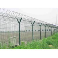 Wholesale Y Post 3D Curved Airport Security Fencing , Welded Wire Mesh Fence Panels from china suppliers
