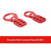 Wholesale 115mm Height Red Color Economic Steel Lockout Hasp with 25mm Lock Shackle from china suppliers