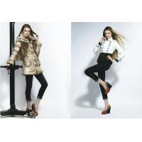 Wholesale Winter Women coat Fashion luxury large fur collar medium-long down coat from china suppliers