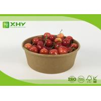 Buy cheap Disposable Kraft Brown Paper Salad Bowls Food Container with Clear Lids from wholesalers