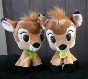 China Brown 8 inch Disney Plush Toys Bambi Big Head Cartoon Stuffed Animals Customized on sale